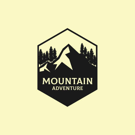 Mountain Adventure Outdoor  design, best for sport or recreation  inspiration Ilustracja