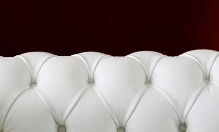 White Leather chesterfield sofa Stock Photo - 10676602