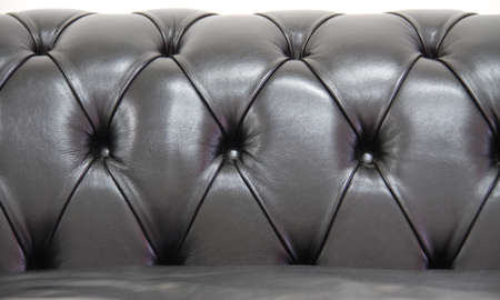chesterfield: White Leather chesterfield sofa Stock Photo