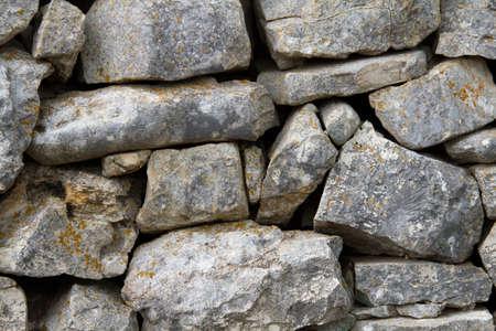 rural stone wall detail