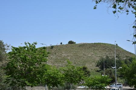 Ancient, biblical Yokneam (Tel-Yokneam). Israel. Archivio Fotografico - 102168231