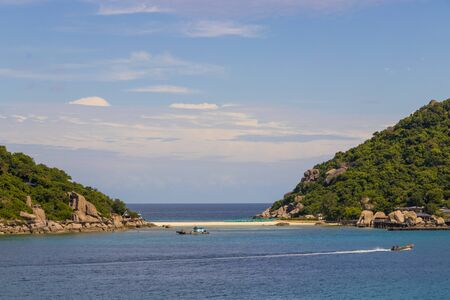 Most beautiful beaches. Koh Nang Yuan Beach near Koh Tao Koh in Thailand Surat Thani.