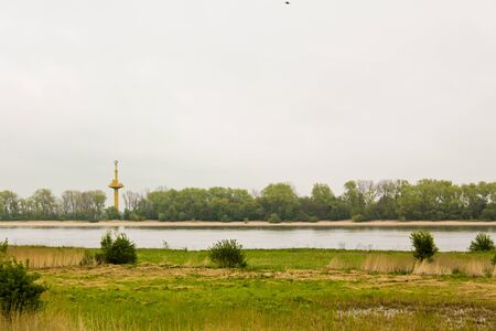Moor and beach at Harrier Sand Brake in Lower Saxony Germany. Banque d'images