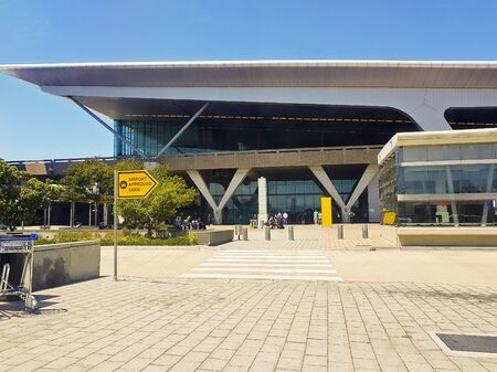 Entrance to the Cape Town International Airport in South Africa.