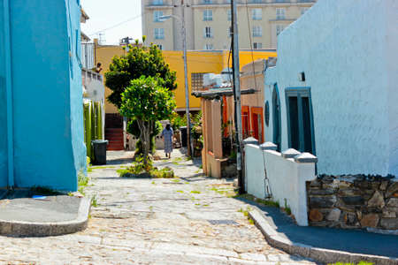 Life in the colorful streets of Bo-Kaap Schotsche Kloof in Cape Town.