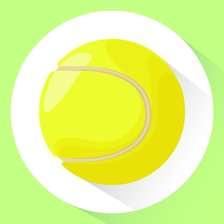 Icon. Tennis ball. Vector illustration in cartoon style. Isolated on white background.