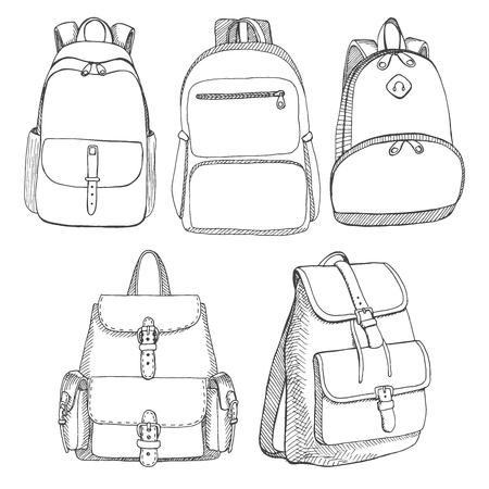 Conjunto de diferentes mochilas