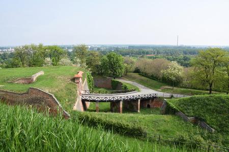 Bridge over the moat, fortress in Novi Sad - Petrovaradin, Serbia. Stock Photo