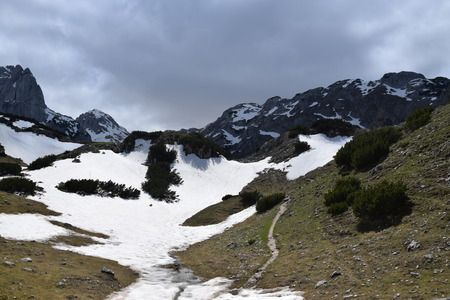 Durmitor national park. Mountains, near Bobotov Kuk. Montenegro.