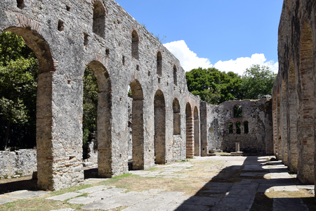 Ruins of church in Buthrotum, ancient city in south Albania. Butrint