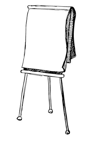 Flip chart isolated on white background. Sketch. Vector illustration Vettoriali