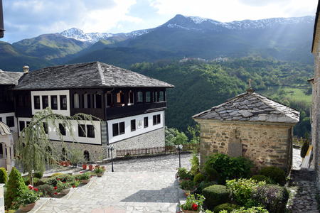 Saint Jovan Bigorski Monastery. Macedonian Orthodox monastery, Macedonia. Stock Photo