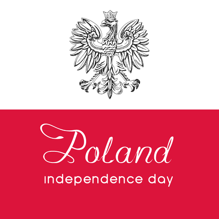 Illustration for the centennial of independence of Poland. Vector illustration 矢量图像