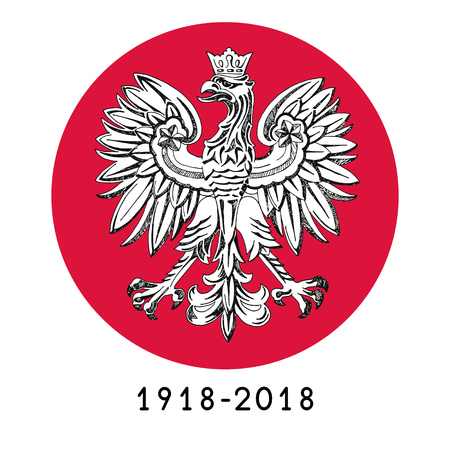 Illustration for the centennial of independence of Poland. Vector illustration Illustration