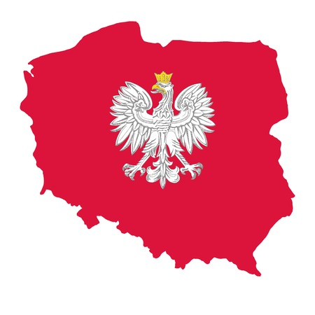 Illustration for the centennial of independence of Poland. Vector illustration Vectores
