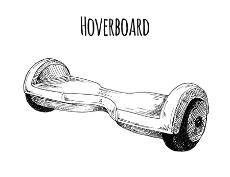Hoverboard isolated on white background. Vector illustration.