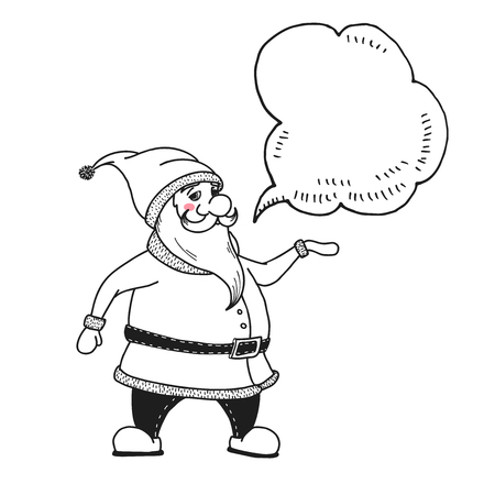 Santa Claus. Vector illustrations in sketch style