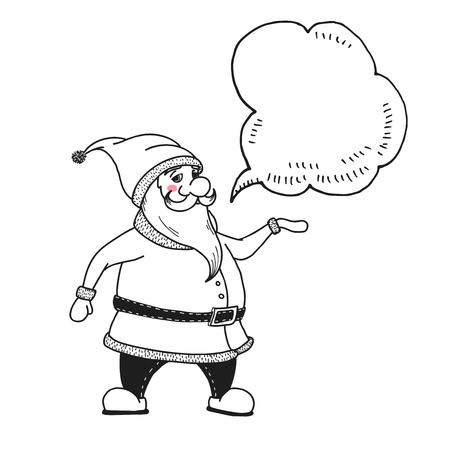 Santa Claus. Vector illustrations in sketch style