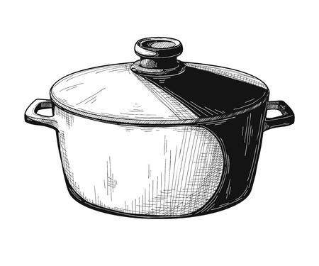 Pan isolated on white background. Vector illustration.