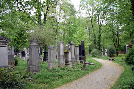 Old South Cemetery (Alter Sudfriedhof). Munich, German. Stock Photo