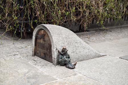 Poland, Wroclaw - April 2018: Wroclaw Dwarfs - Sleepyhead Dwarf. Editorial