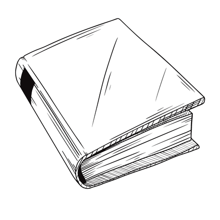 Realistic sketch book. The book is isolated on a white background. Vector illustration Ilustracja