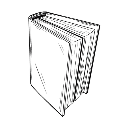 Realistic sketch book. The book is isolated on a white background. Vector illustration Ilustrace