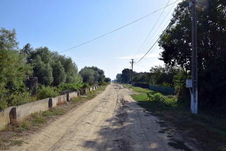 Country road in Gorgova village. Danube Delta, Romania.