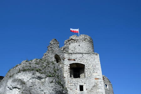 """Ruins of Ogrodzieniec castle, """"Trail of the Eagle's Nests"""", Poland. Stock fotó"""