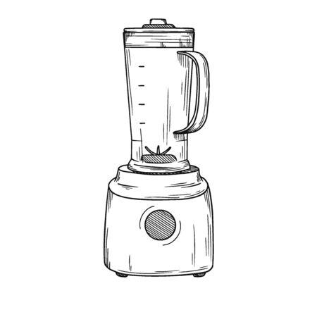 Blender on a white background. Vector illustration in sketch style.