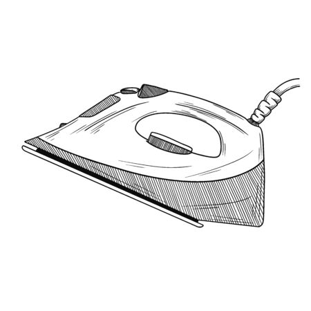 Sketch iron on a white background. Vector illustration in sketch style.
