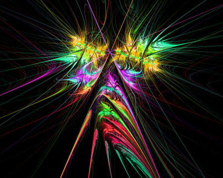 digitally generated image: Digitally generated image made of colorful fractal