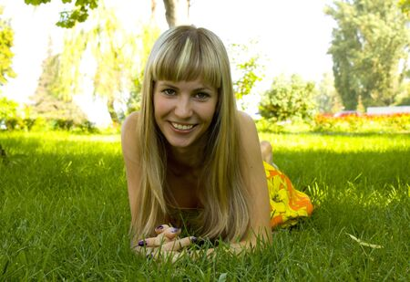 GIRL ON THE GRASS by photo