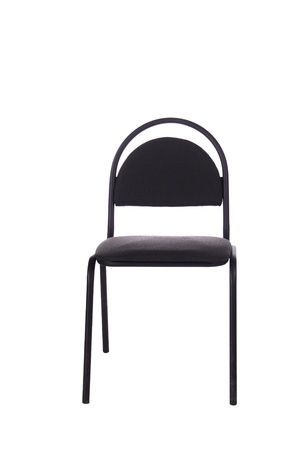 office chair on a white background, black photo