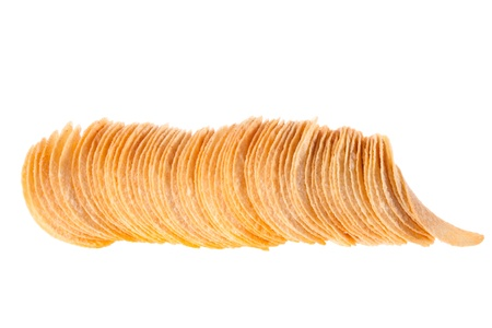 gease: potato chips. Photographed on a white background with three light sources