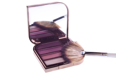a set of makeup, eye shadow brush photo