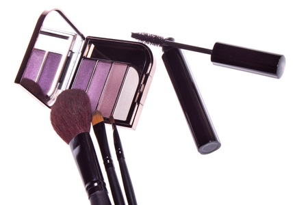 a set of makeup, eye shadow brush Stock Photo - 13329425
