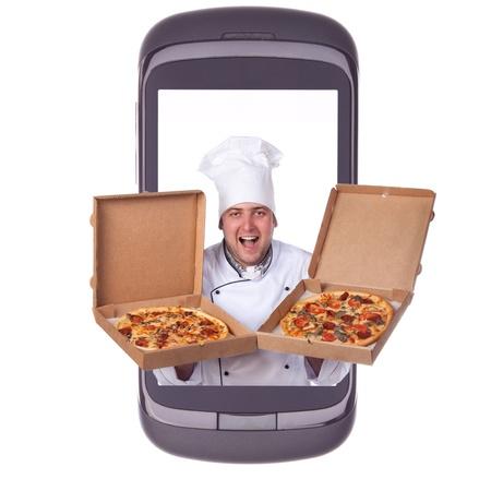 order delivery pizza Banque d'images