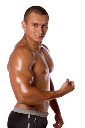 Muscled male model bodybuilder muscle Stock Photo - 13801869