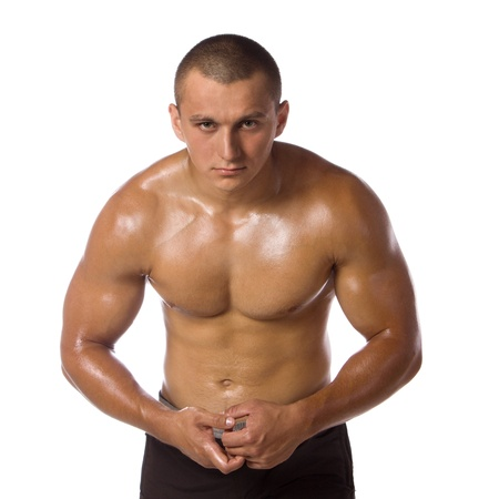 Muscled male model bodybuilder muscle Stock Photo - 13801839