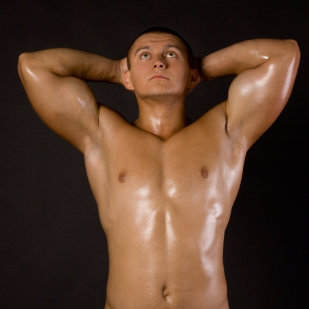 Muscled male model bodybuilder muscle Stock Photo - 13801871