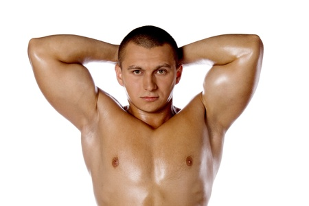 Muscled male model bodybuilder muscle Stock Photo - 15370158
