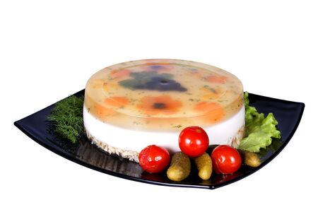 Aspic from chicken meat photo