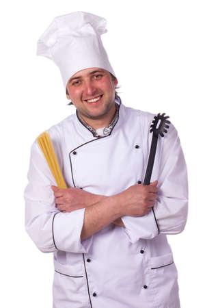 Portrait male chef Stock Photo