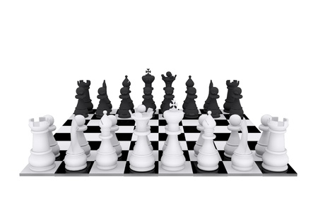 Chess game board Stock Photo