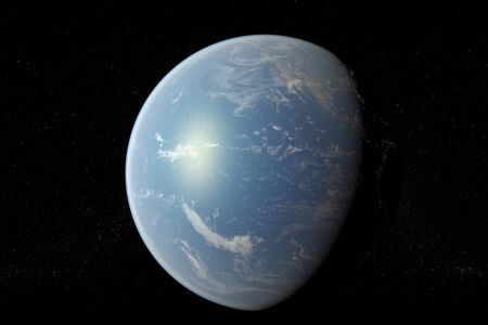 flight earth in space Banque d'images