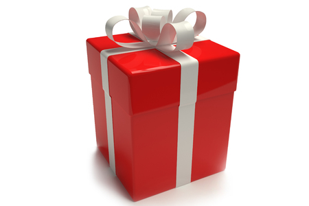 Gift box Gift box red. tied with a ribbonred. tied with a ribbon