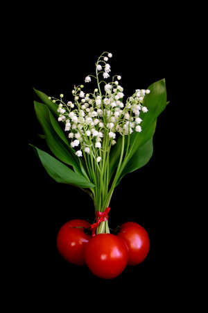 still life of lilies of the valley photo