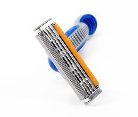 razor: men razor blade closeup Stock Photo