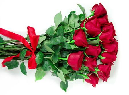 Bouquet von roten Rosen Nahaufnahme Standard-Bild